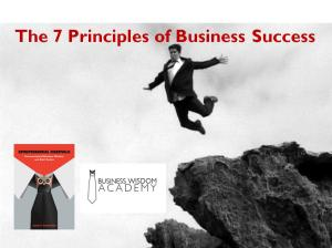 7 Key Principles of Biz Success