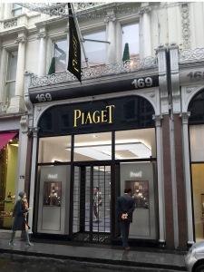 Piaget timepieces, Bond Street, London boutique