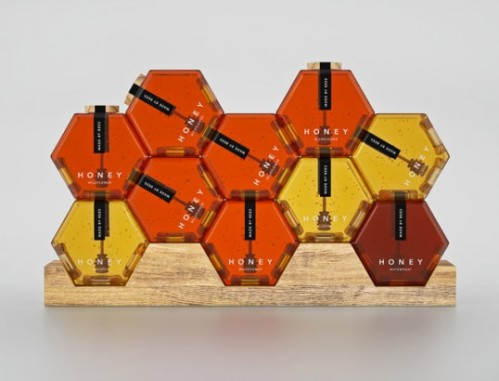 Hexagon Honey Packaging