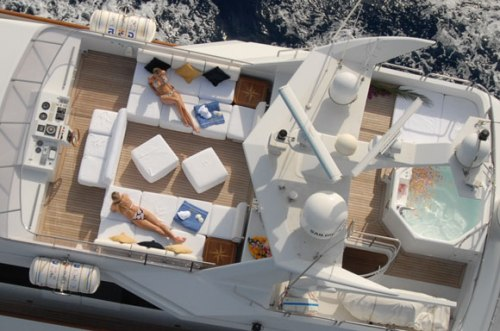 Yacht Lifestyle Shot from the Air