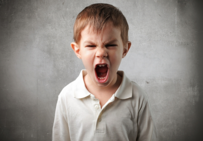 Screaming child image