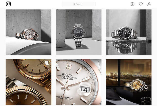 Rolex Instagram image